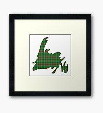 NewfoundPod - Plain Newfoundland Tartan Map Framed Print