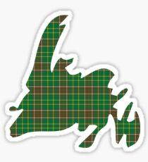 NewfoundPod - Plain Newfoundland Tartan Map Sticker