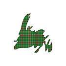 NewfoundPod - Plain Newfoundland Tartan Map by newfoundpod