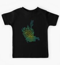 Beverly Hills, LA, USA Colored Street Network Map Graphic Kids Tee