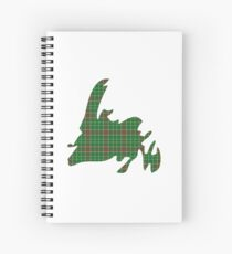 NewfoundPod - Plain Newfoundland Tartan Map Spiral Notebook