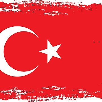 Turkish flag in watercolor brush style by naum100