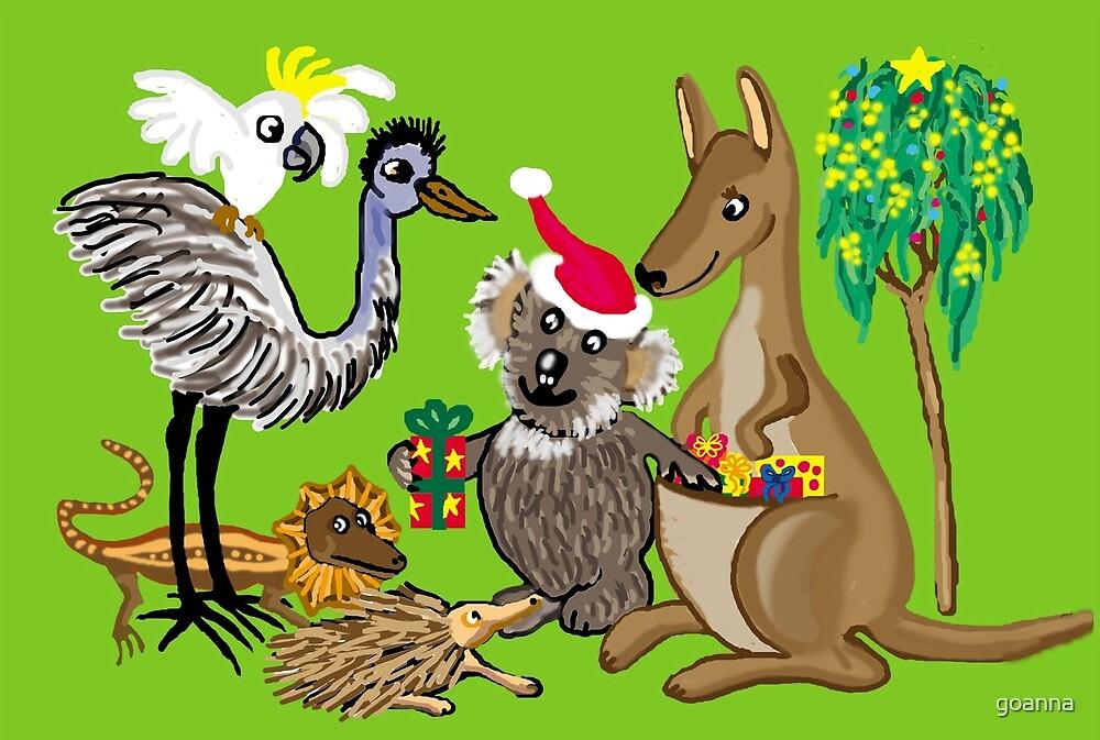 Santa Claws - Aussie Christmas Card by goanna