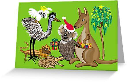 Santa claws aussie christmas card greeting cards by goanna santa claws aussie christmas card by goanna m4hsunfo