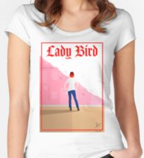 Lady Bird Poster Fitted Scoop T-Shirt
