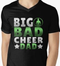 Big Dad Cheer Dad Father's Day Gift Men's V-Neck T-Shirt