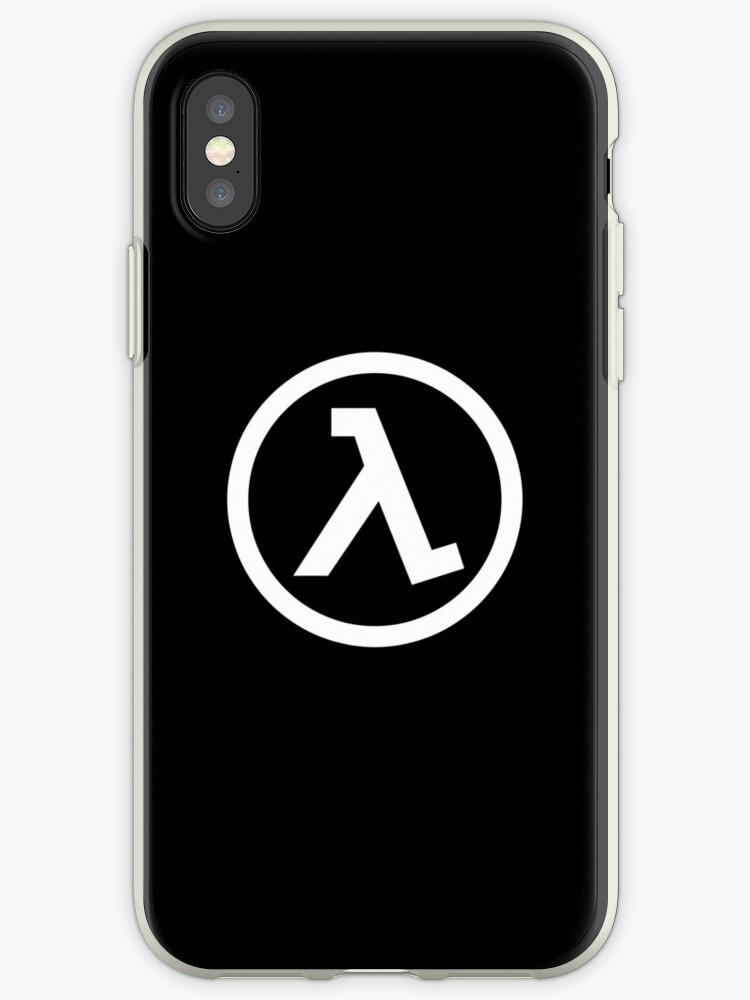 Half Life Lamba Logo Symbol Black Mesa White Iphone Cases Covers