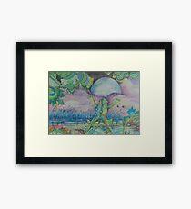 The Blue Moon Frog Framed Print