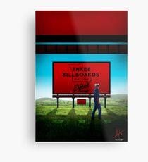 Three Billboards - 1 Metal Print