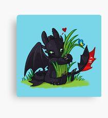 Dragons Love Grass Canvas Print