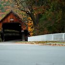 Middle Covered Bridge in Woodstock Vermont by Jeff Palm Photography