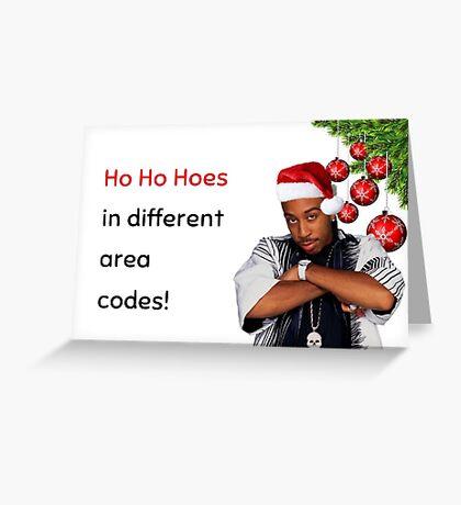 Rapero Navidad, Ho Ho Ho, humor, memes. Tarjeta de felicitación