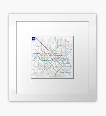 London Underground Map Framed Print