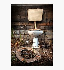 Atmospheric Toilet Cabin Photographic Print