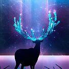 Greenery Deer - Sterling Magenta by schwebewesen