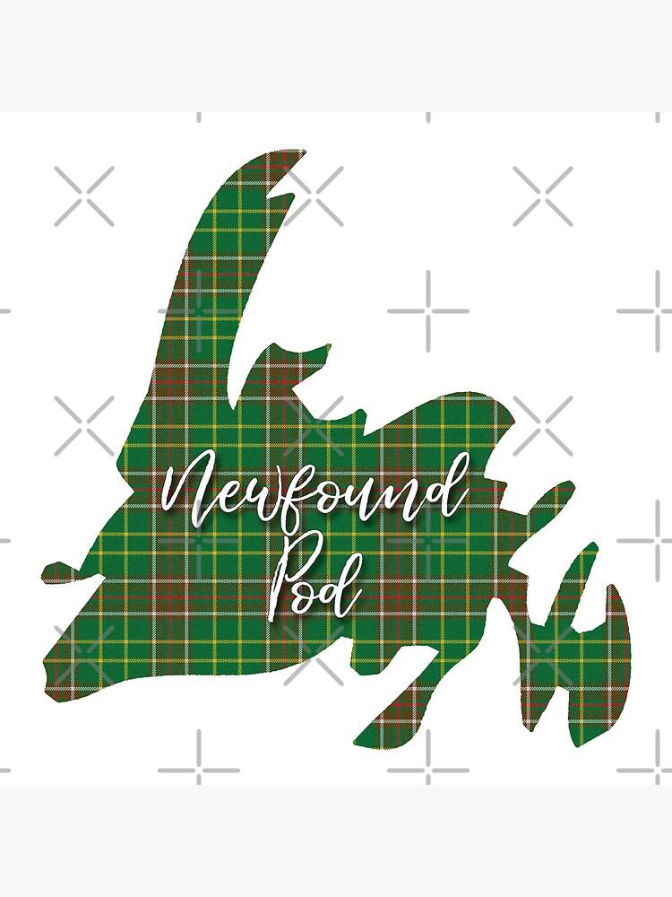NewfoundPod - A Bite-Sized Podcast About Newfoundland - Newfoundland Tartan Map 2 by newfoundpod