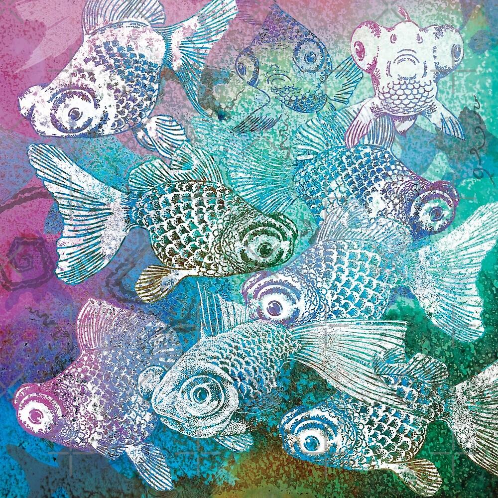 Moor fish goldfish 4 by Sally Barnett