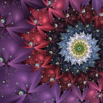 Floral Fractal Firework by pinkal