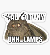 Y'all Got Lamps Moth Meme Sticker