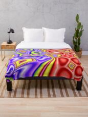 Abstract colorful kite Throw Blanket