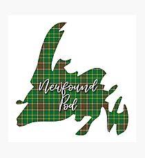 NewfoundPod - Newfoundland Tartan Map 3 Photographic Print