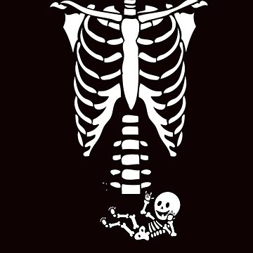 MATERNITY - SKELETON HALLOWEEN COSTUME With BABY by TimForder