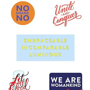 I Am Womankind Sticker Pack 1 by Musicalligraphy