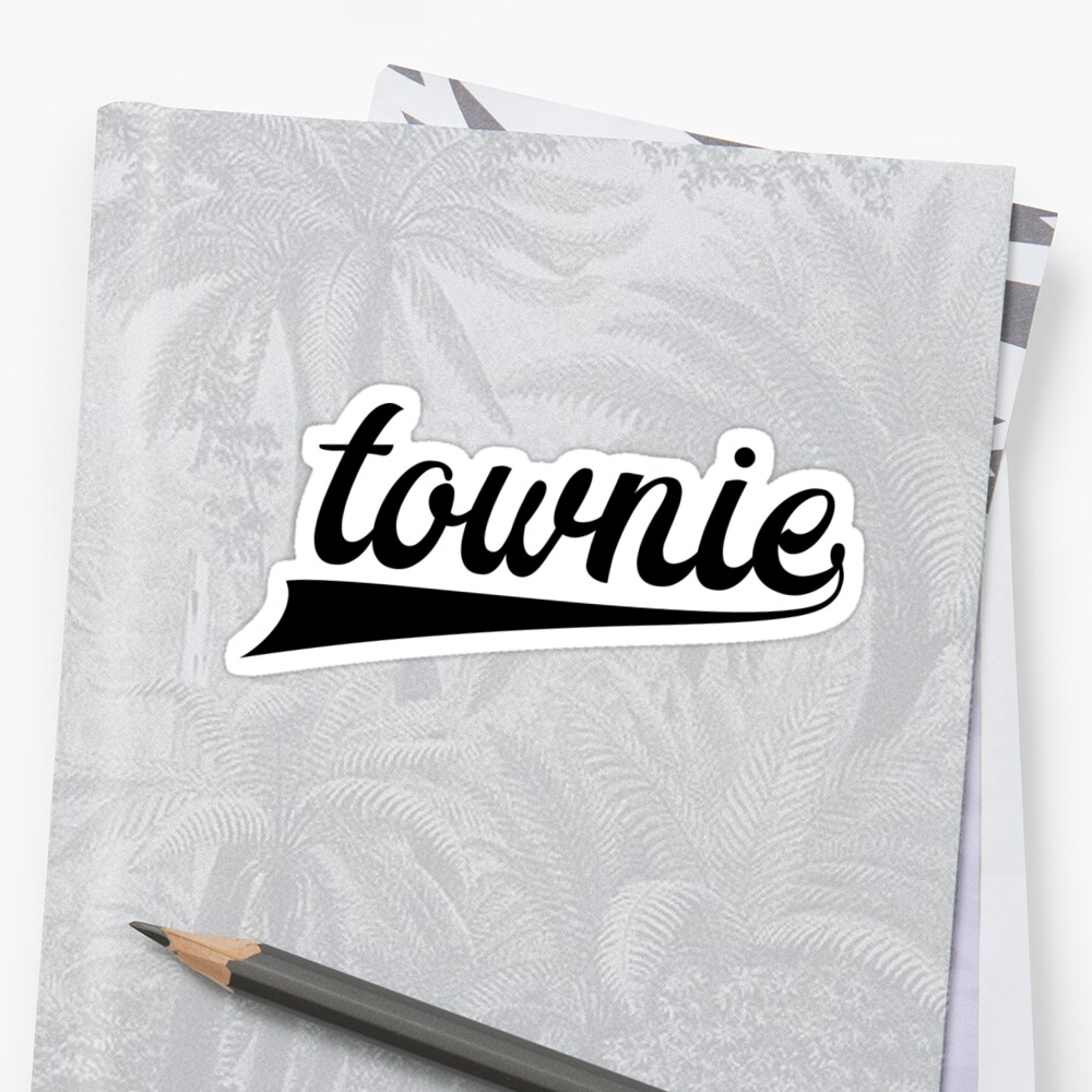 Townie - Show your townie pride - Newfoundland Sticker Front