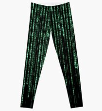 Matrix Code Pattern Leggings