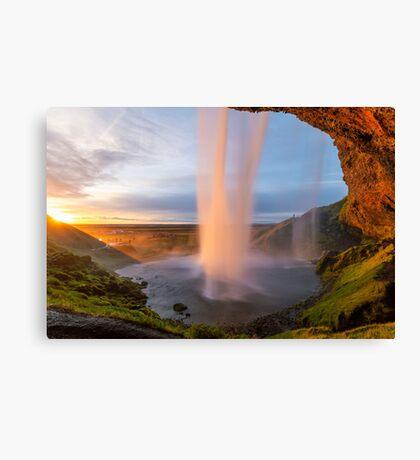 Seljalandsfoss From Behind - Iceland Canvas Print
