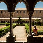 The Benedictine Cloisters At Monreale by Xandru