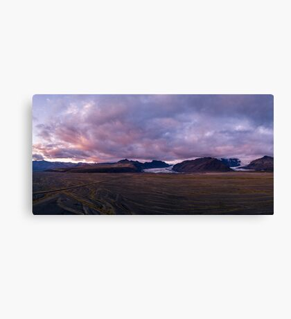 Aerial view of a glacier - Iceland Canvas Print
