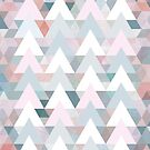 Pastel Graphic Winter Trees on Geometry #abstractart #winterart by Dominiquevari