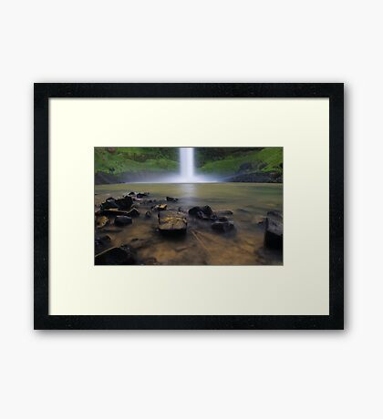 Bridal Veil falls, Waikato, New Zealand Framed Print