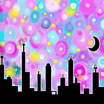 Swirly Metropolis by dahlymama