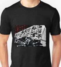 """Apartment Building (In The Style Of """"Sin City"""") Unisex T-Shirt"""