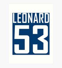 LEONARD 53 Art Print