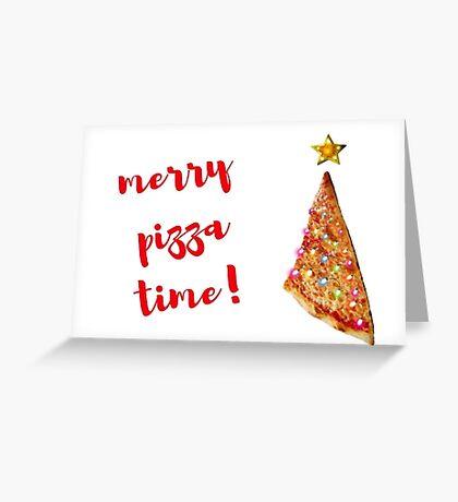 Feliz pizza, Navidad, Pizza Tarjeta de felicitación