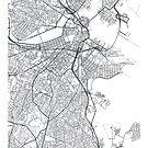 Vector poster map city Boston by maximgertsen