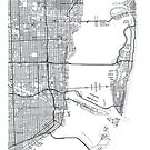 Vector poster map city Miami by maximgertsen