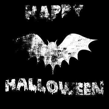 Happy Halloween Bat by sillyshirtsco