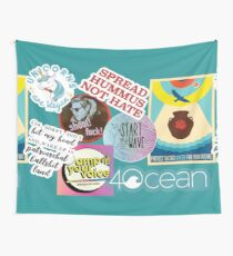 Vegan Collage Wall Tapestry