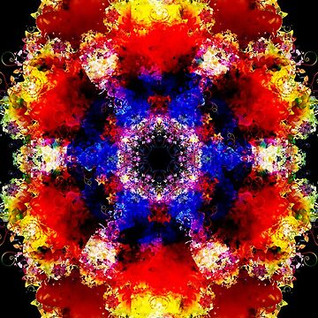 Floral Colorful Mandala by maniacreations