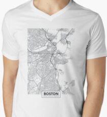Vector poster map city Boston Men's V-Neck T-Shirt