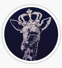 Giraffe King Sticker