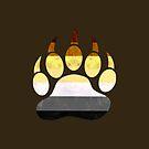Bear Pride Paw Print by TigerTorreArt