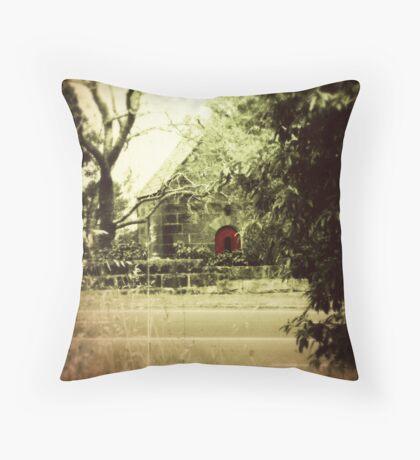 The Red Door Throw Pillow