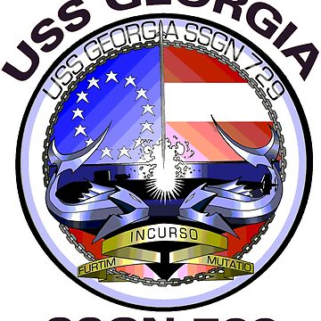 USS Georgia (SSGN-729) Crest by Spacestuffplus