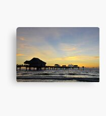 The end of a beautiful day. Canvas Print