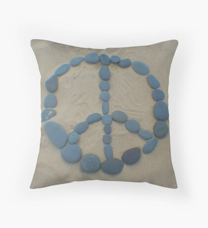 Peace in the Sand Throw Pillow